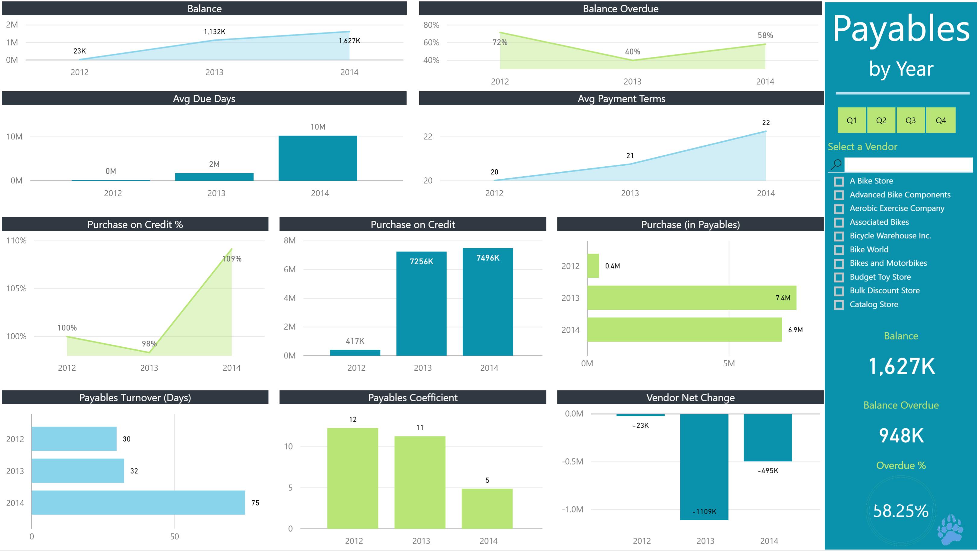 Data Bear Power BI payables portfolio