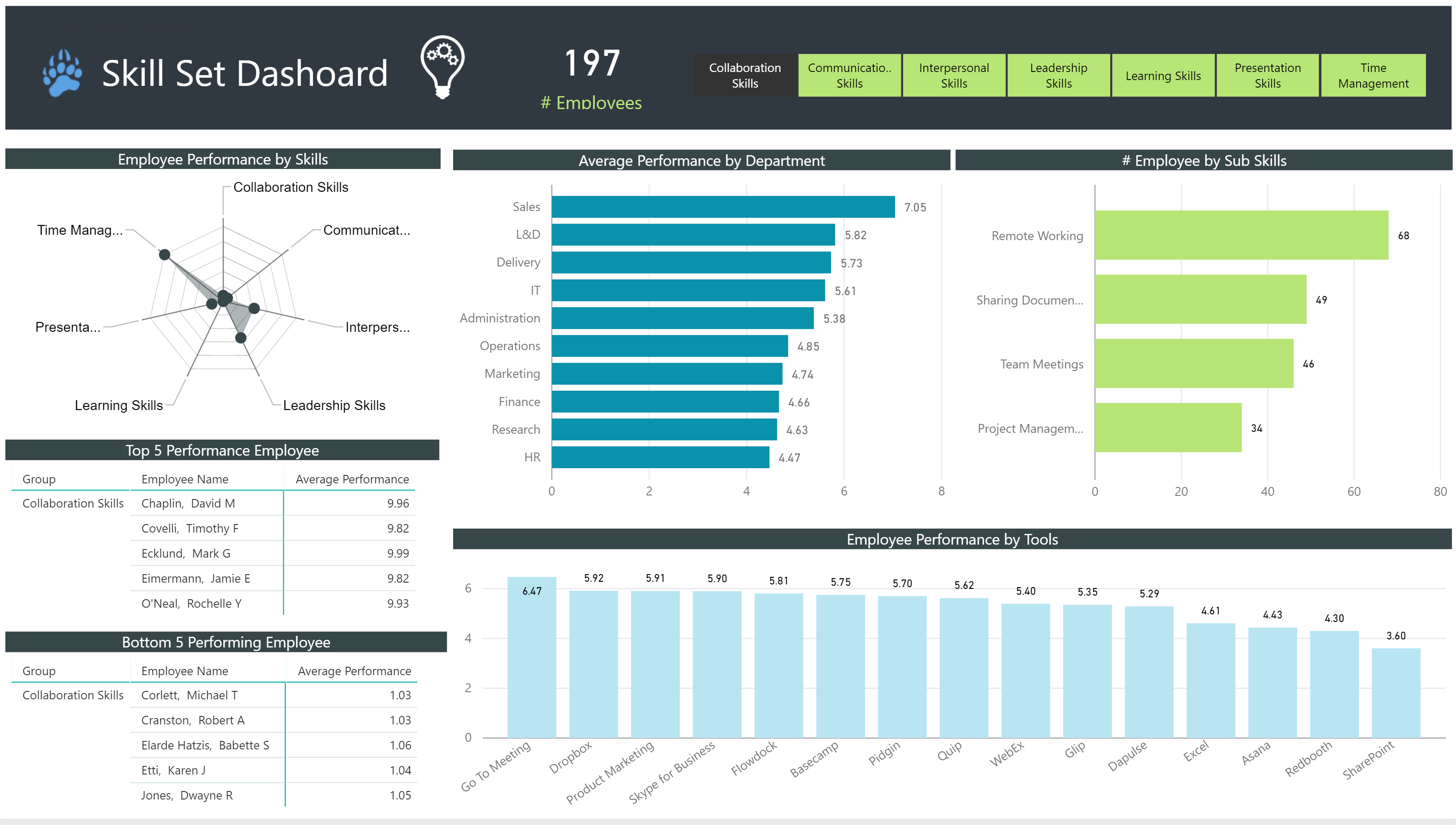 Data Bear HR Skill Set Dashboard