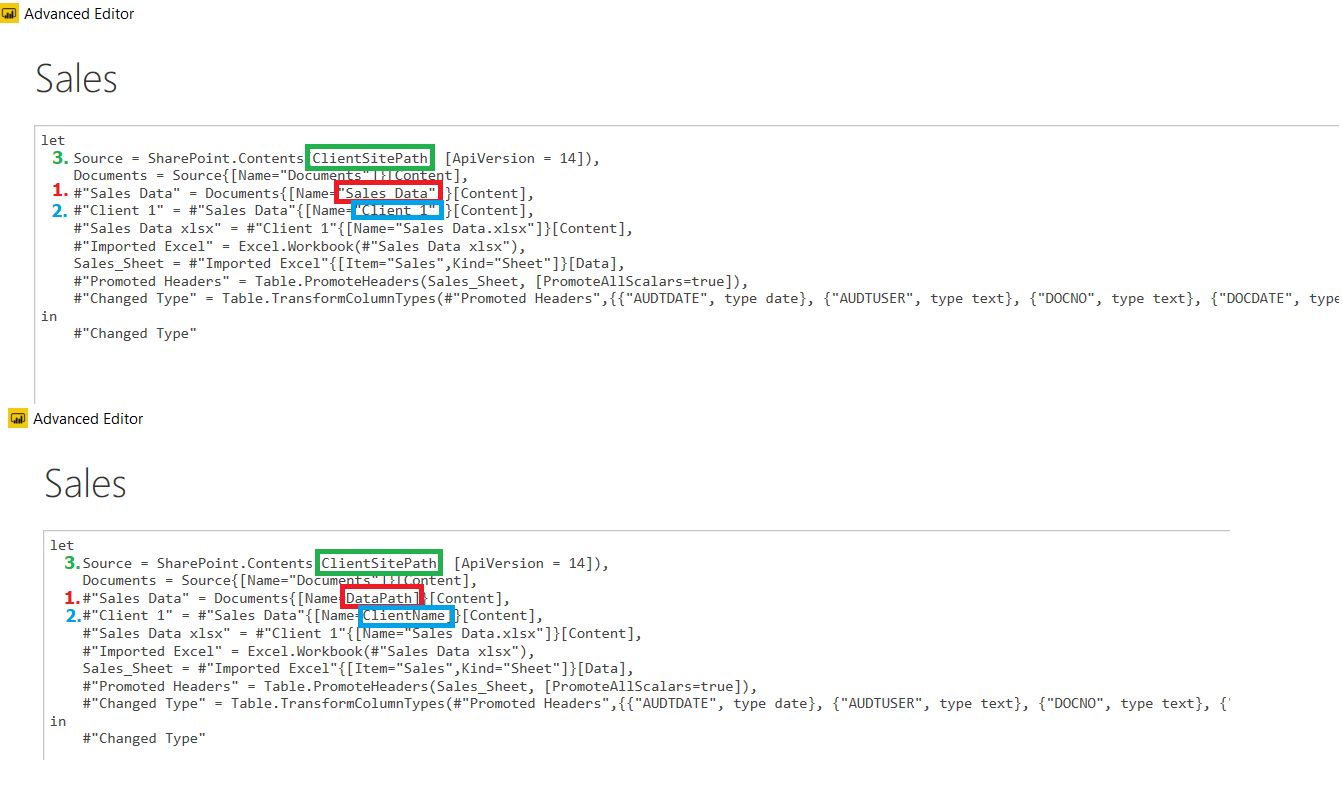 advance query editor txt update
