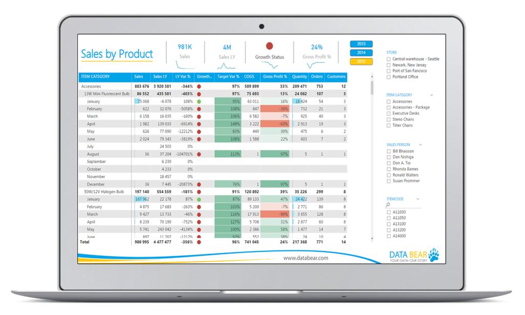Data Bear Power BI Solution Showcase | Insights & Analysis - Data Bear