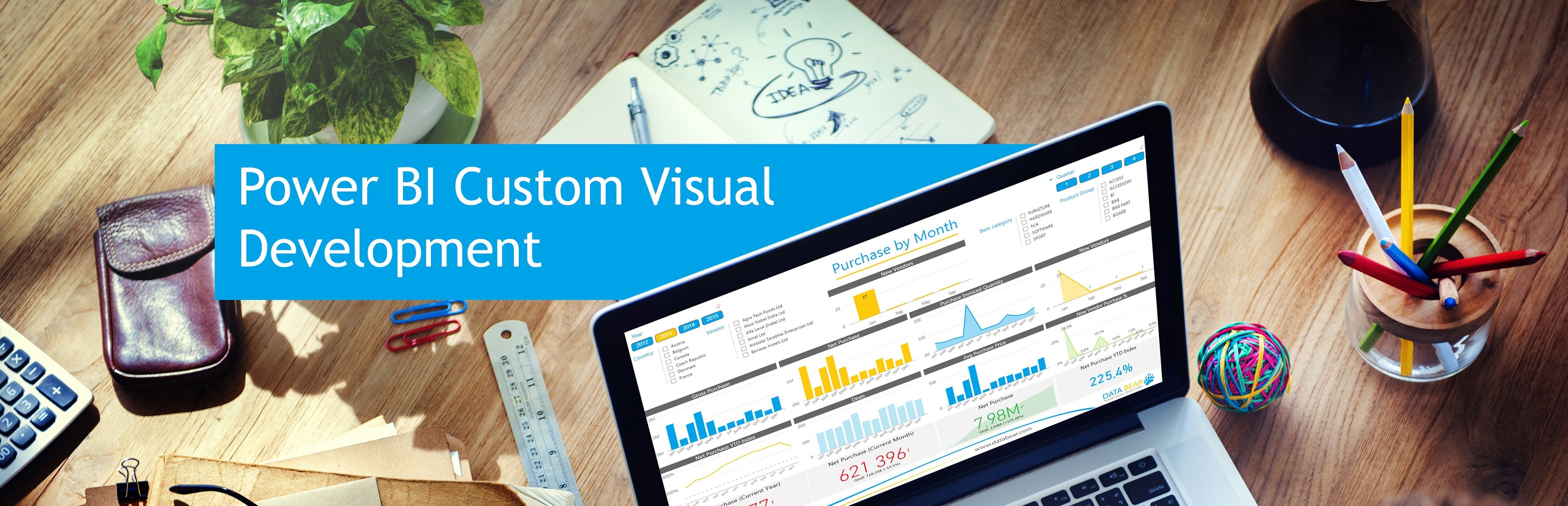 Data Bear Power BI custom visuals banner