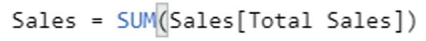 DAX Sales Measure